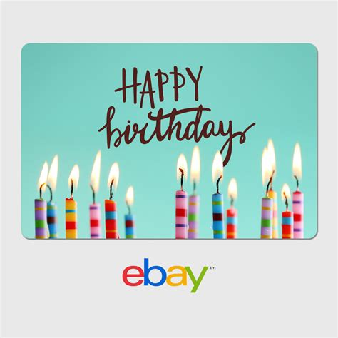 Birthday Gift Cards - ebay digital gift card birthday designs email delivery ebay