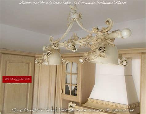 lampadario bianco edera e rose cucinagbs illuminazione