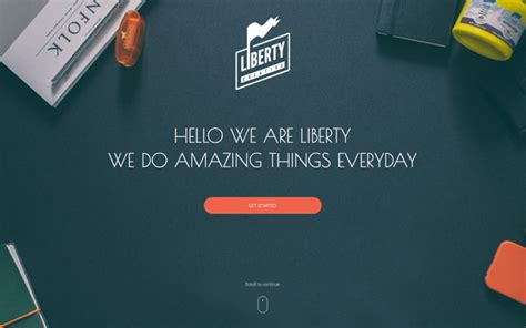 liberty one page html template bootstrap landing pages