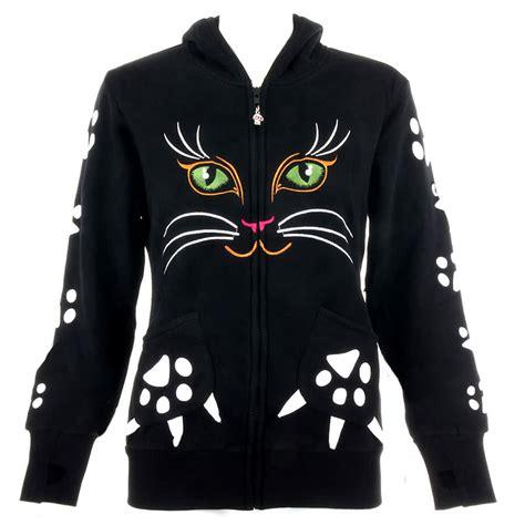Cat Hodie Jaket banned cat hoodie black hoodies banned clothing womens hoody uk