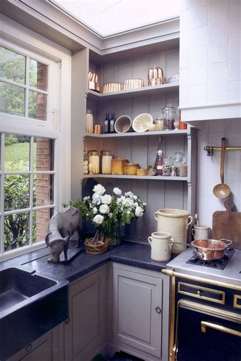 kitchen corner shelves ideas great use of a shallow corner space kitchens