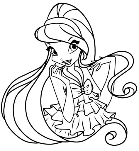 Winx Club Printable Coloring Pages free printable winx club coloring pages for