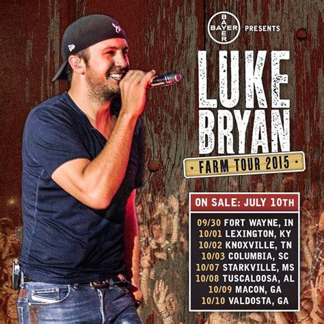 luke bryan farm tour lineup rejoice luke bryan announces 2015 farm tour dates