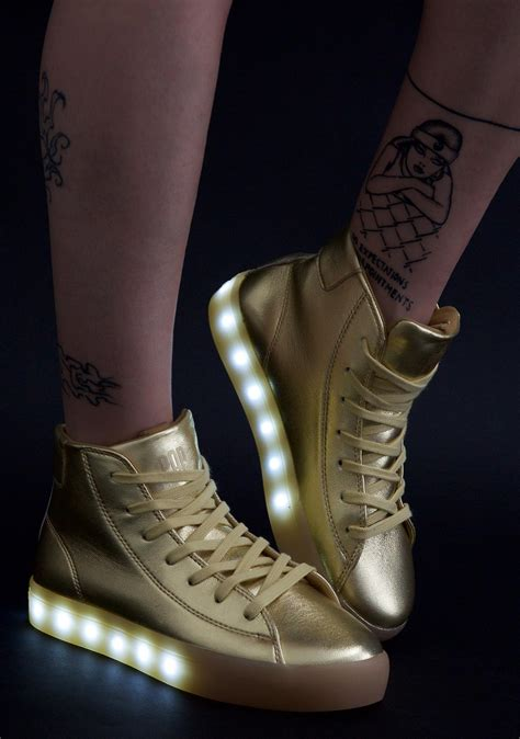 gold light up shoes gold light up shoes dolls kill