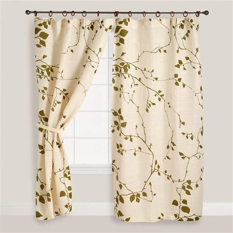 world market drapes lyrical branches jute curtains set of 2 world market