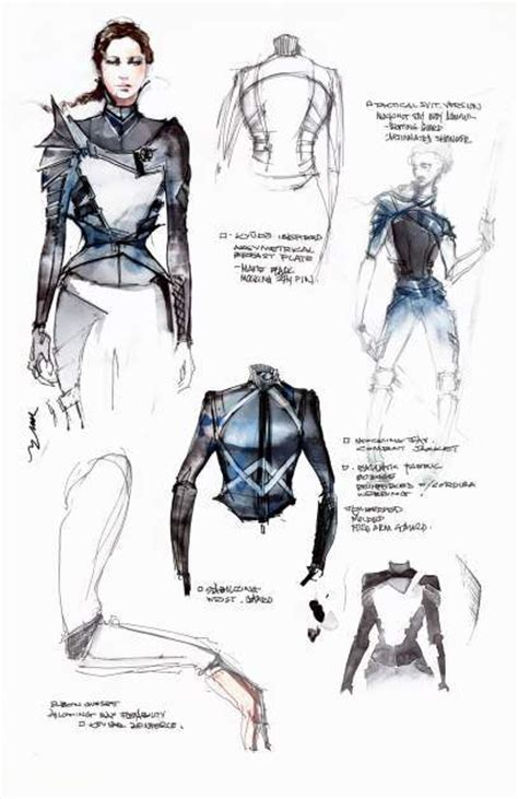 look inside cinna s sketchbook with mockingjay costume
