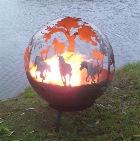 feuerkugel garten feuerkugel pferde feuerball feuerkorb klein 40cm ohne bei