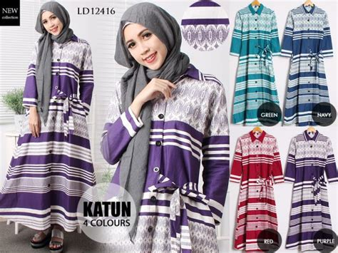 Sale Bf1297 Maxi Garis Tanpa special edition lebaran busana muslim gamis abaya cantik