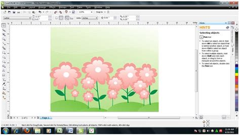 tutorial coreldraw membuat bunga alternative design membuat walpaper taman bunga sederhana