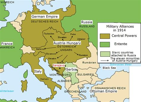one map ww1 map of europe 1914