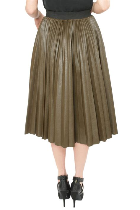 j o a pleather pleated skirt from oregon by vintalier