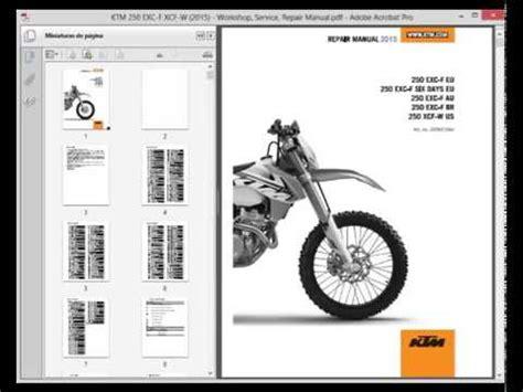 Ktm 250 Exc F Xcf W 2015 Service Manual Wiring