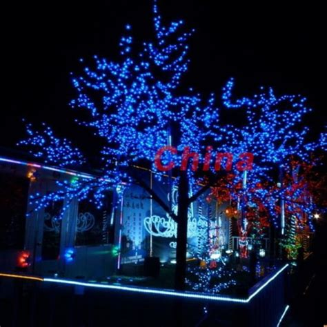 blue outdoor decorations free shipping 60 led solar string lights gardens