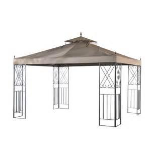 8 Ft Canopy by Shop Sunjoy Brown Rectangle Gazebo Foundation 9 8 Ft X
