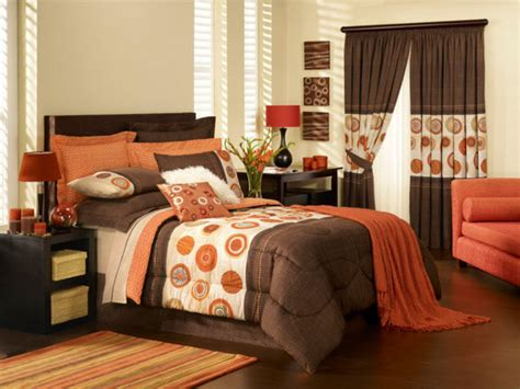 Orange And Brown Bedroom Ideas | fabulous orange bedroom decorating ideas and designs for