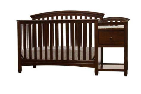 Crib With Changing Table Attached Convertible Crib With Changing Table Attached 87 Inspiring Crib And Dresser Combo Home Design