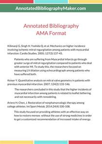 annotated essay exle writing annotated bibliography in ama citation style