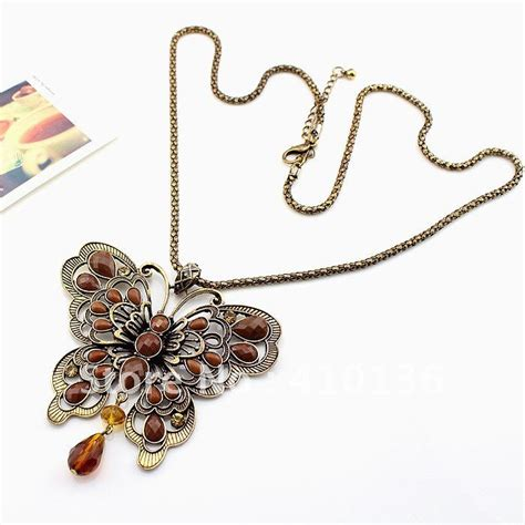 Sale Gold Necklace Top Mn 8217 aliexpress buy mn119 vintage butterfly pendant