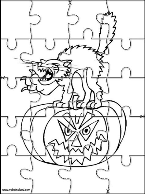 halloween coloring pages and puzzles halloween printable puzzle 9