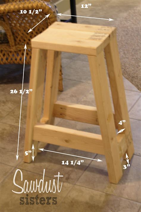diy barstool using only 2x4s sawdust