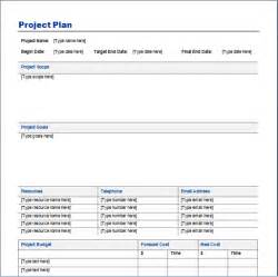 Free Project Plan Template Word by Project Plan Template Free Layout Format