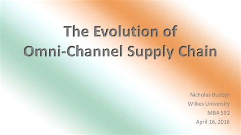 Https A Wilkes Edu Mba 592 April 2016 Presentation Schedule the evolution of the omni channel supply chain experience