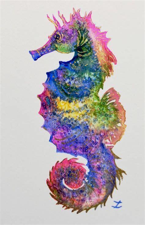 colorful seahorse artfinder bright seahorse by zaira dzhaubaeva beautiful