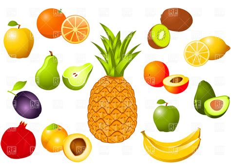 fruit clipart fruits 4784 food and beverages royalty free