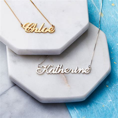 Handmade Personalised Jewellery - personalised handmade name necklace personalised