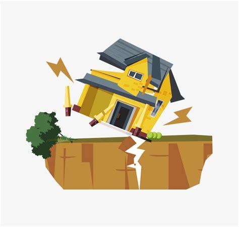 earthquake vector vector colored earth after the earthquake vector house