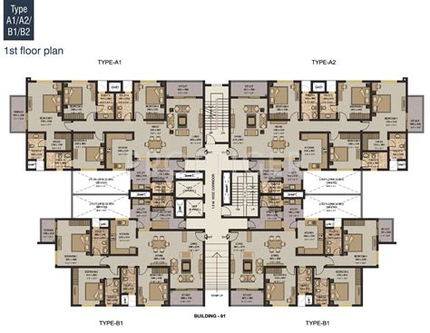 flat floor plans 2540 sq ft 4 bhk 5t apartment for sale in sobha limited