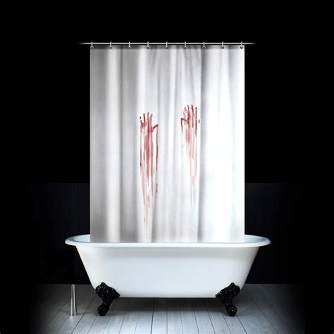 horror movie shower curtain new blood bath shower curtain bathroom novelty horror gift
