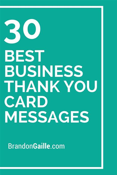 Thank You Letter Phrases 30 Best Business Thank You Card Messages Messages Thank You Messages And Your Message