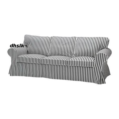 black and white slipcovers ikea ektorp 3 seat sofa slipcover cover vallsta black