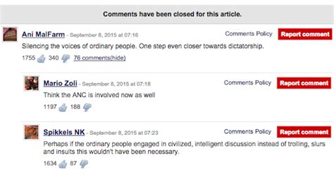 the comment section news24 is removing its comments section and people are