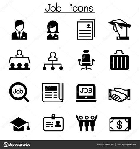 Set Aa Black White employment icon set vector illustration graphic