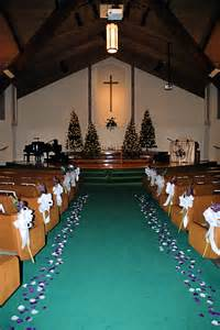 Purple And Teal Christmas Decorations church decorations for a quot winter quot wedding featuring purple