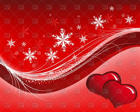 valentines themes s day background with hearts and snowflakes