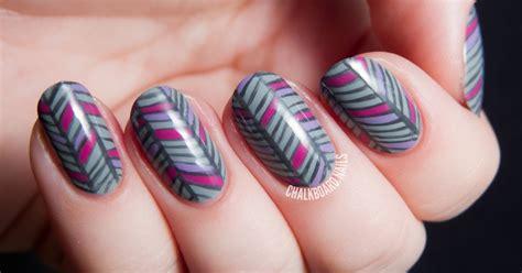 herringbone nail art tutorial grey herringbone nail art chalkboard nails nail art blog