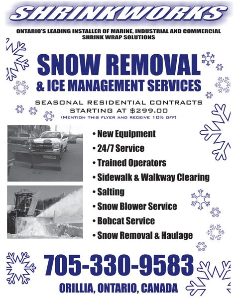 templates brochure snow removal impression house your print design professionals