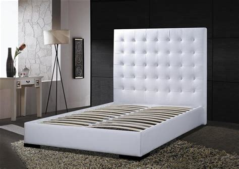 tall white leather headboard contemporary tufted leather tall headboard modern platform