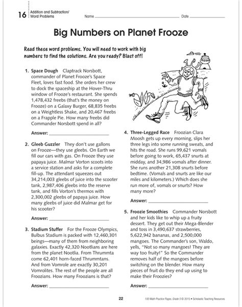 100 Math Practice Pages Grade 5 By