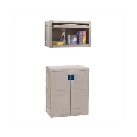 suncast garage base cabinet suncast wall base cabinet storage set walmart com