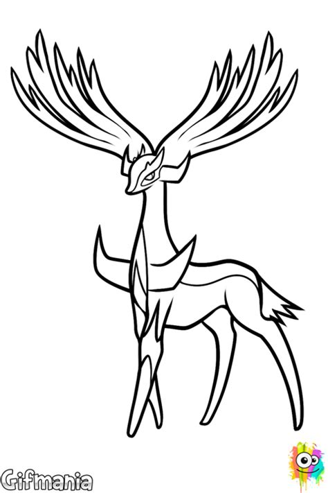 pages xerneas yveltal coloring pages