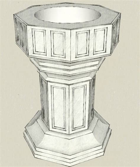 Water View House Plans by Custom Baptismal Fonts From Henninger S Church Services In
