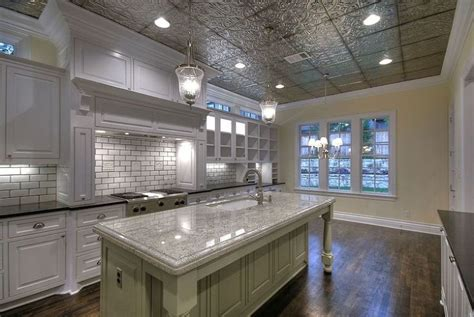 How To Cover Ugly Popcorn Ceilings Or Drywall Popcorn Tin Ceilings In Kitchens