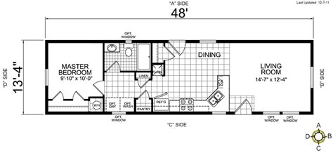 Floor Plans For Trailer Homes by Single Wide Mobile Home Floor Plans Bookks Pinterest