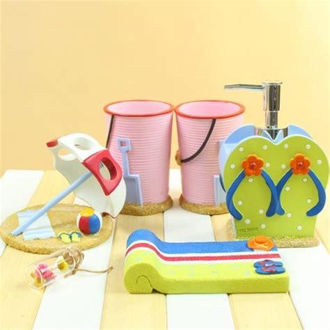 beach bathroom accessories sets creative design beach style bath accessory set resin
