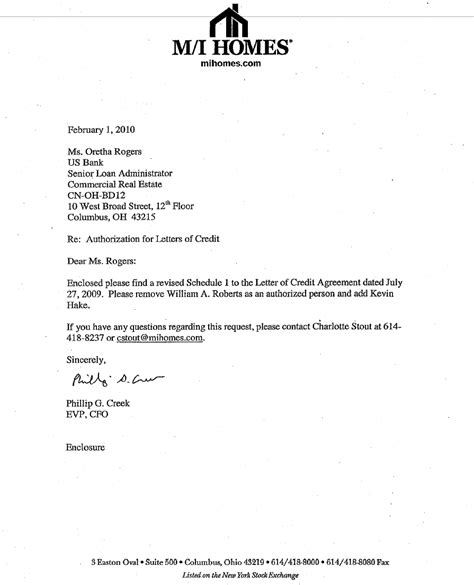 Construction Contract Letter Of Credit Exhibit D