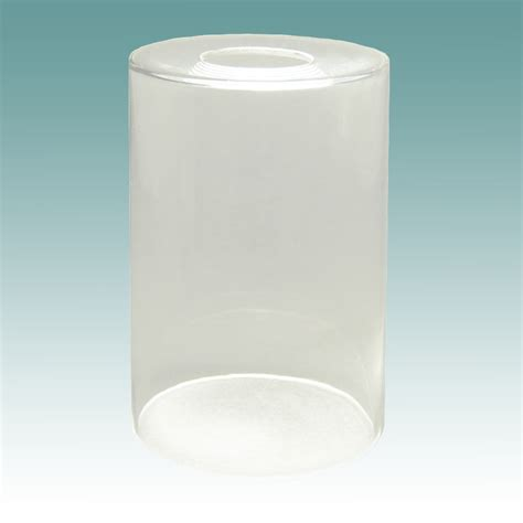 Glass L Shades by 7907 Clear Glass Cylinder Neckless Shade Glass Lshades